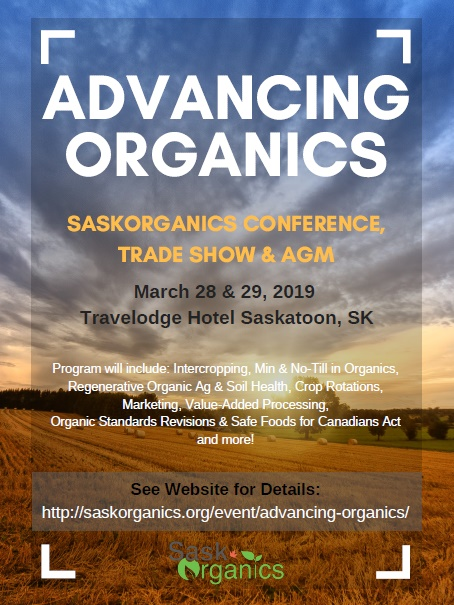 SaskOrganics Annual Conference, AGM, and Trade Show